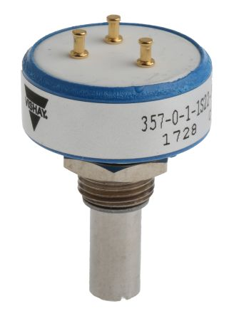 Vishay 1 Gang Continuous Turn Rotary Conductive Plastic Potentiometer with an 6.35 mm Dia. Shaft - 5kΩ, ±20%, 1W Power