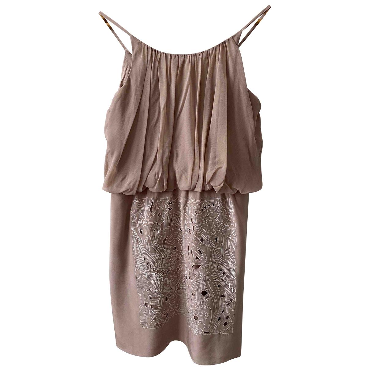 Tibi \N Kleid in  Rosa Seide