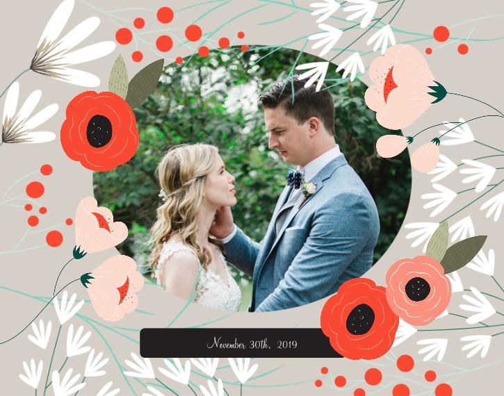 Wedding 11x14 Poster, Home Décor -Wedding Bouquet