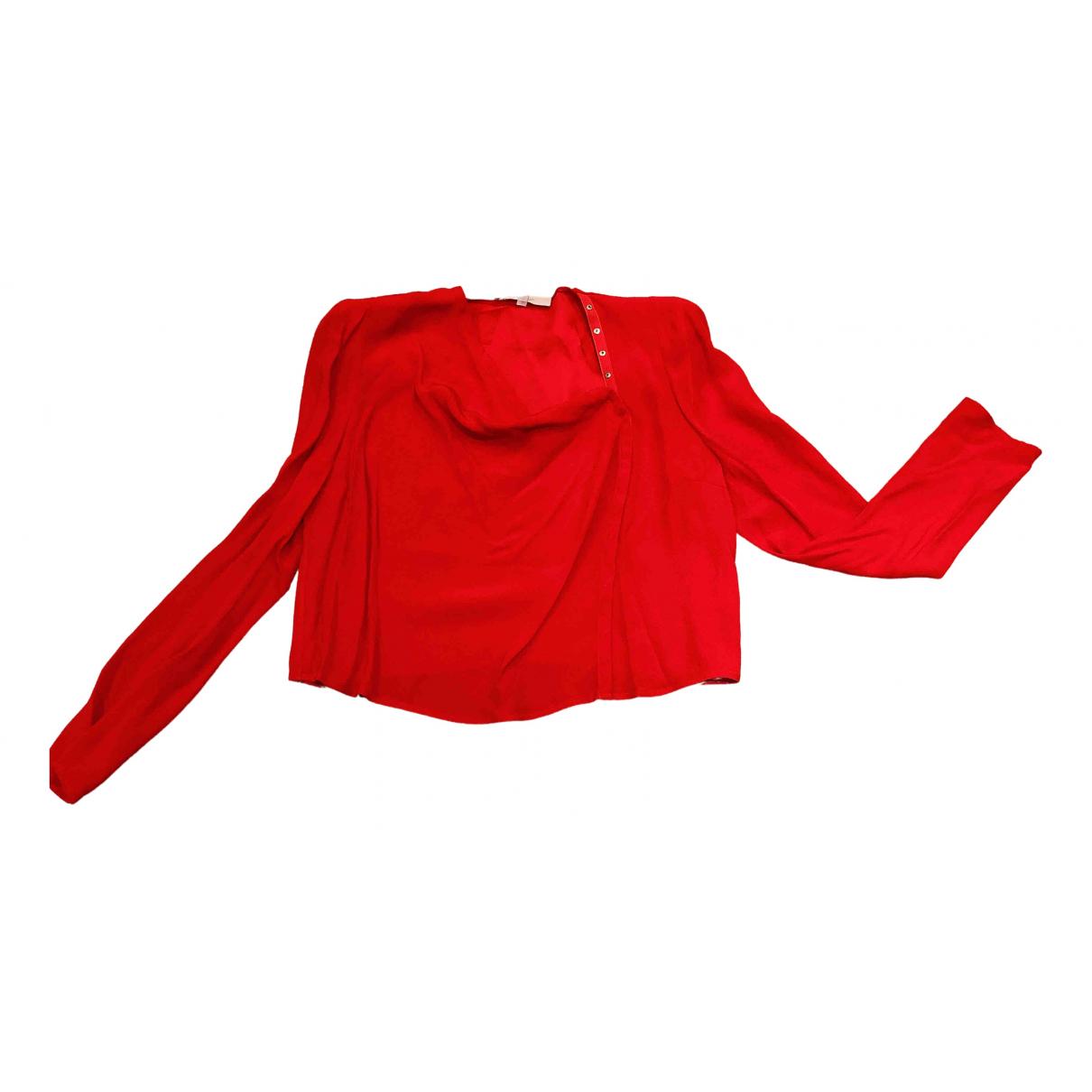 Vanessa Bruno - Top   pour femme en soie - rouge