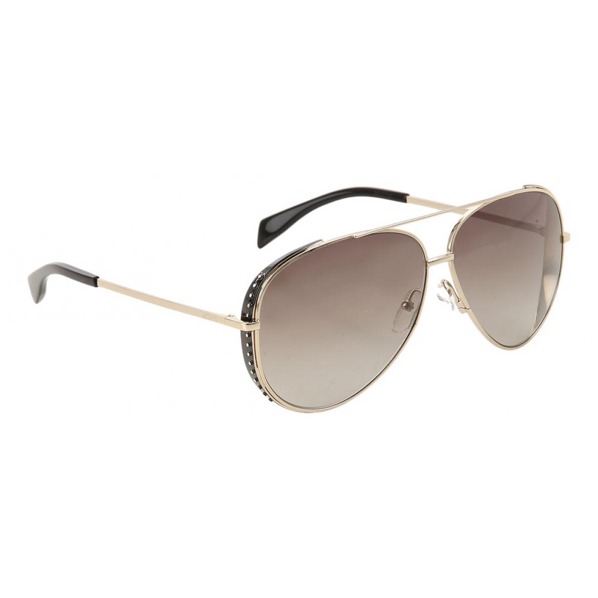 Moschino N Gold Metal Sunglasses for Women N