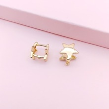 Star Decor Hoop Earrings