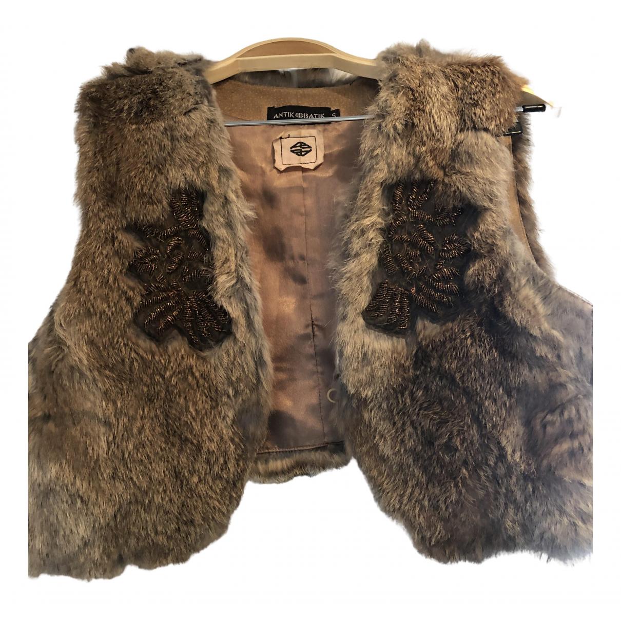 Antik Batik \N Brown Rabbit jacket for Women S International
