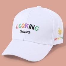 Kleinkind Maedchen Baseball Hut mit Buchstaben Stickereien