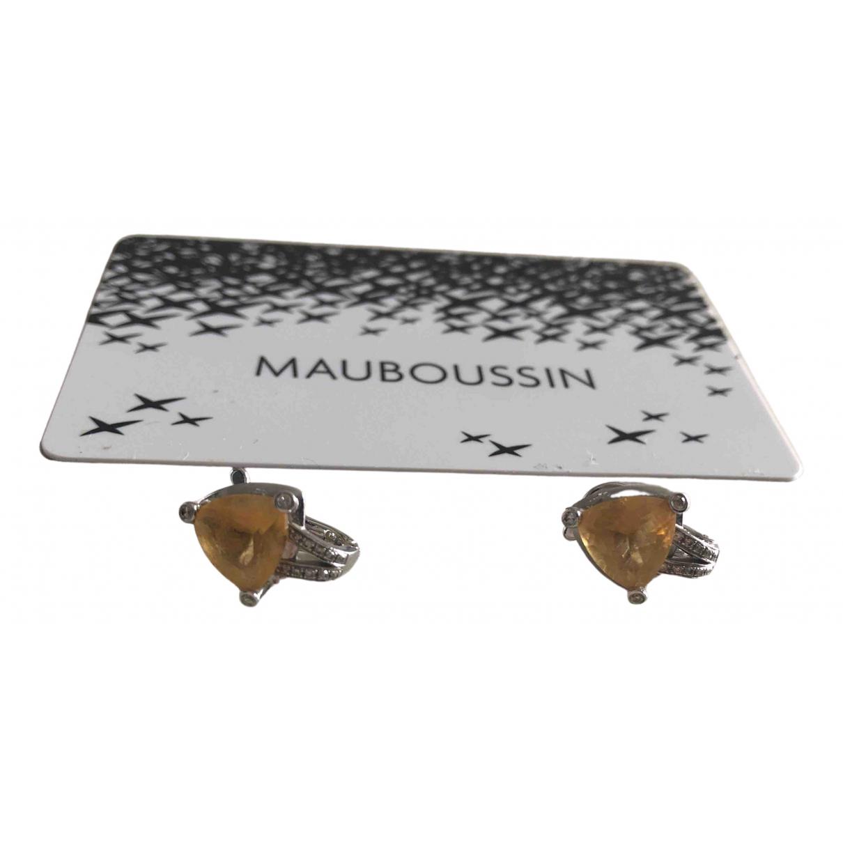 Mauboussin - Boucles doreilles   pour femme en or blanc - jaune
