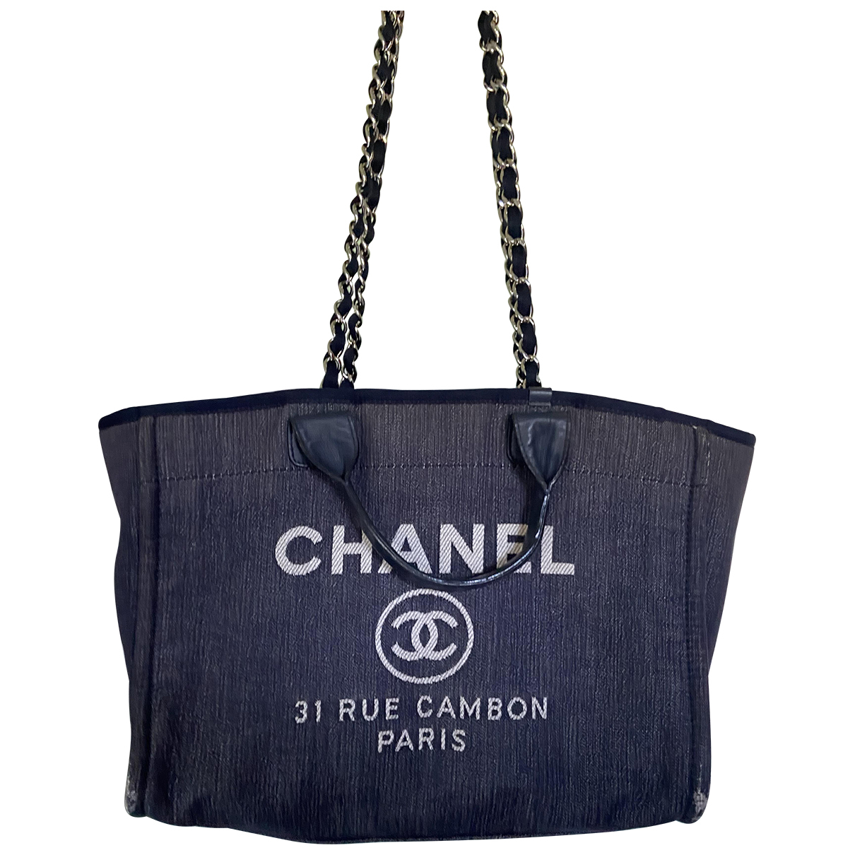 Bolso de mano Deauville en Denim - Vaquero Azul Chanel