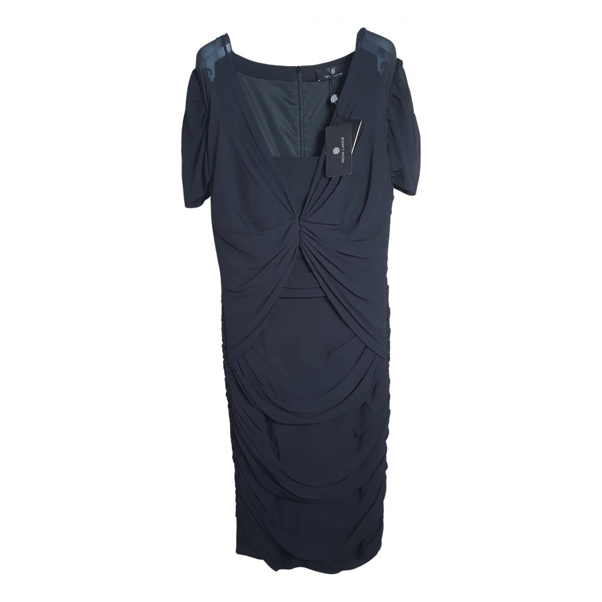 Rena Lange \N Black Silk dress for Women 44 IT