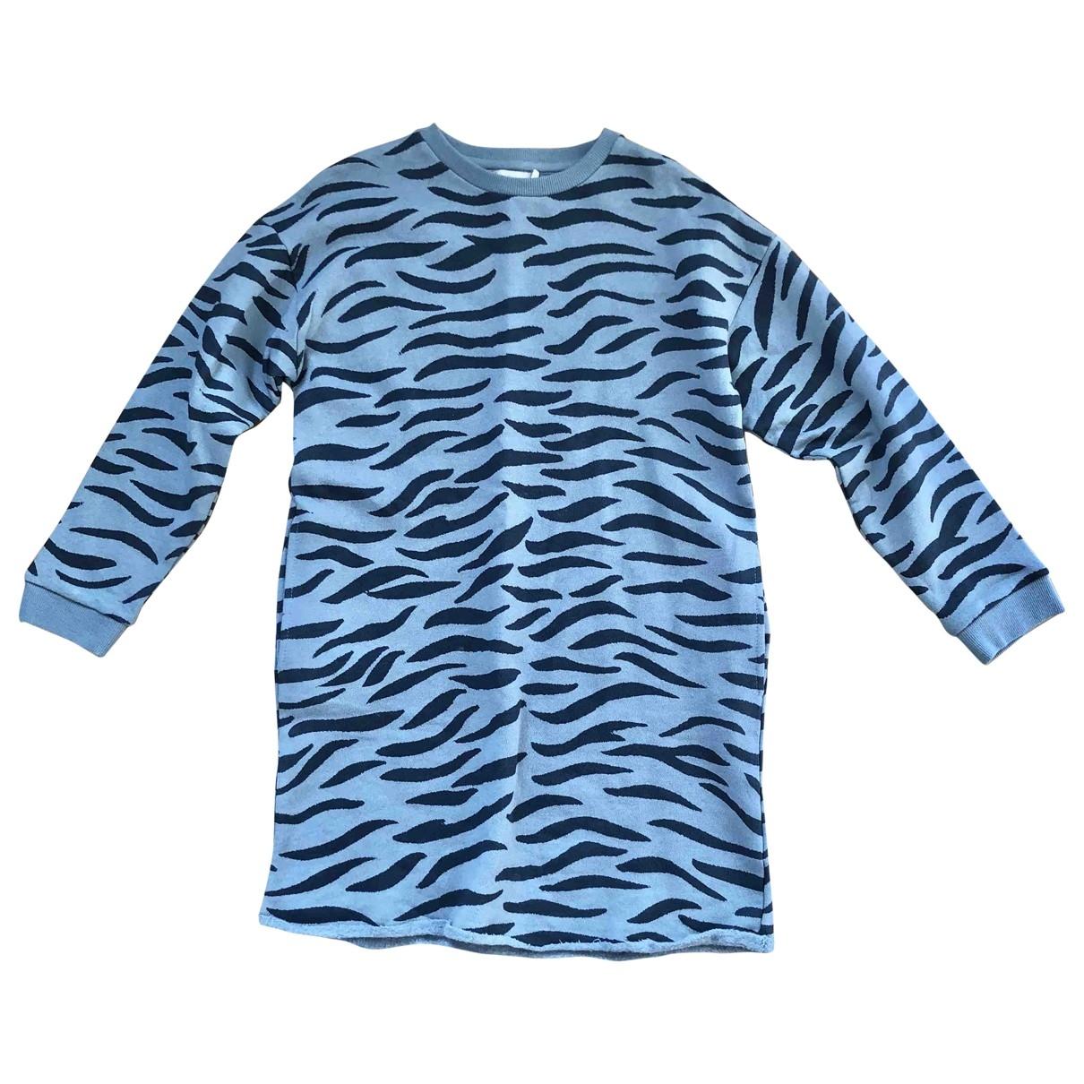 Stella Mccartney Kids - Robe    pour enfant en coton - elasthane - bleu
