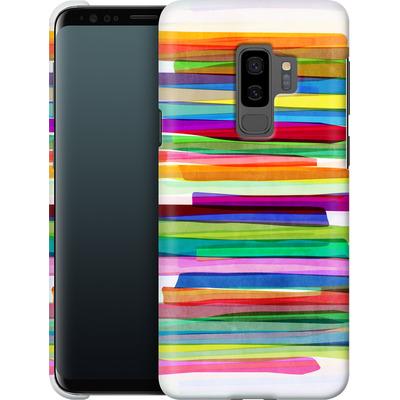 Samsung Galaxy S9 Plus Smartphone Huelle - Colorful Stripes 1 von Mareike Bohmer
