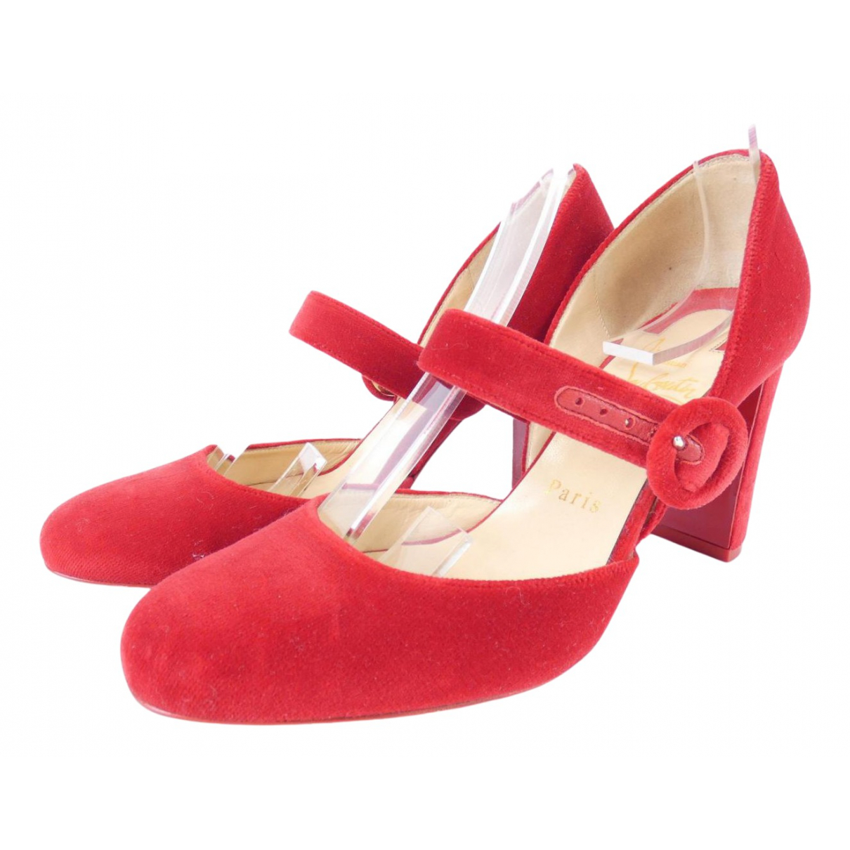 Christian Louboutin \N Pumps in  Rot Samt