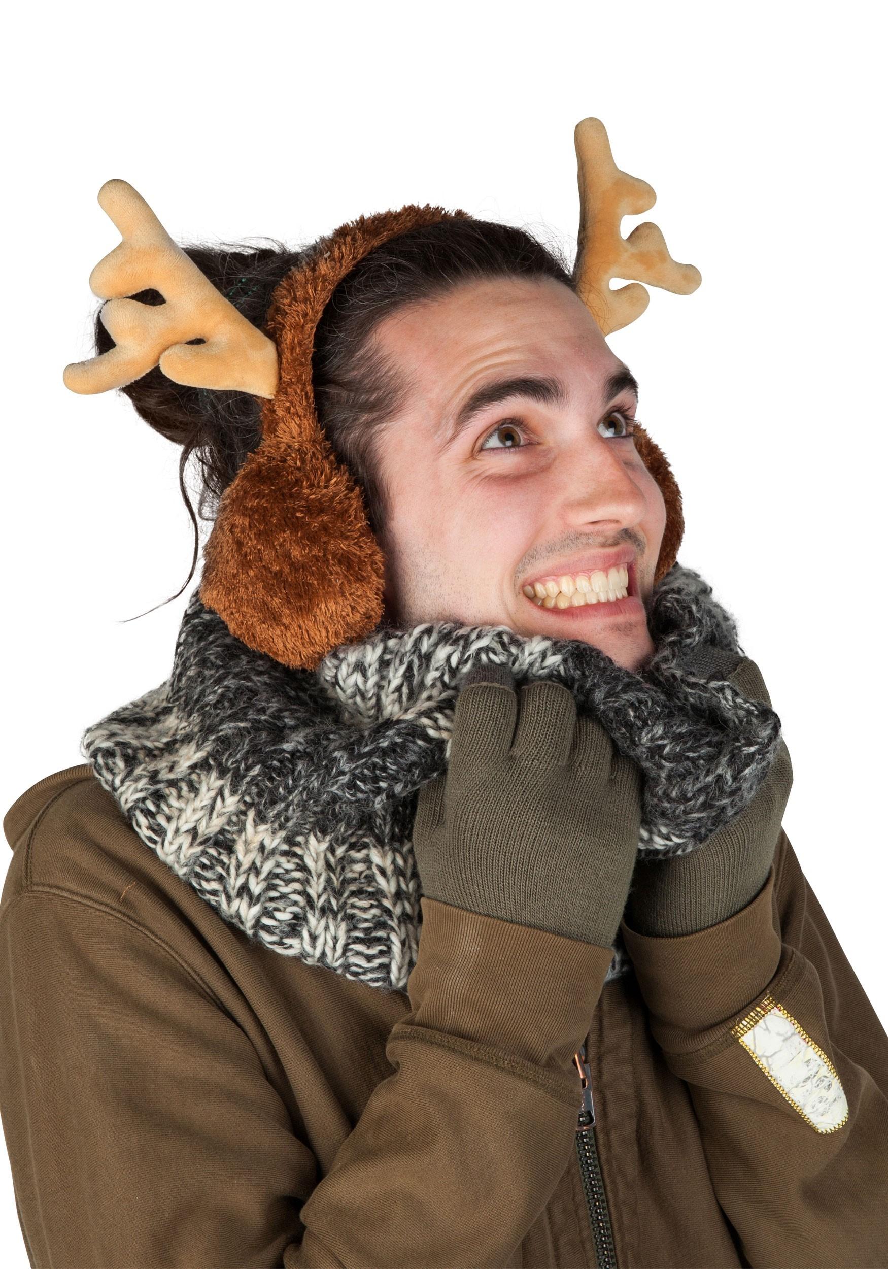 Adult's Reindeer Ear Muffs