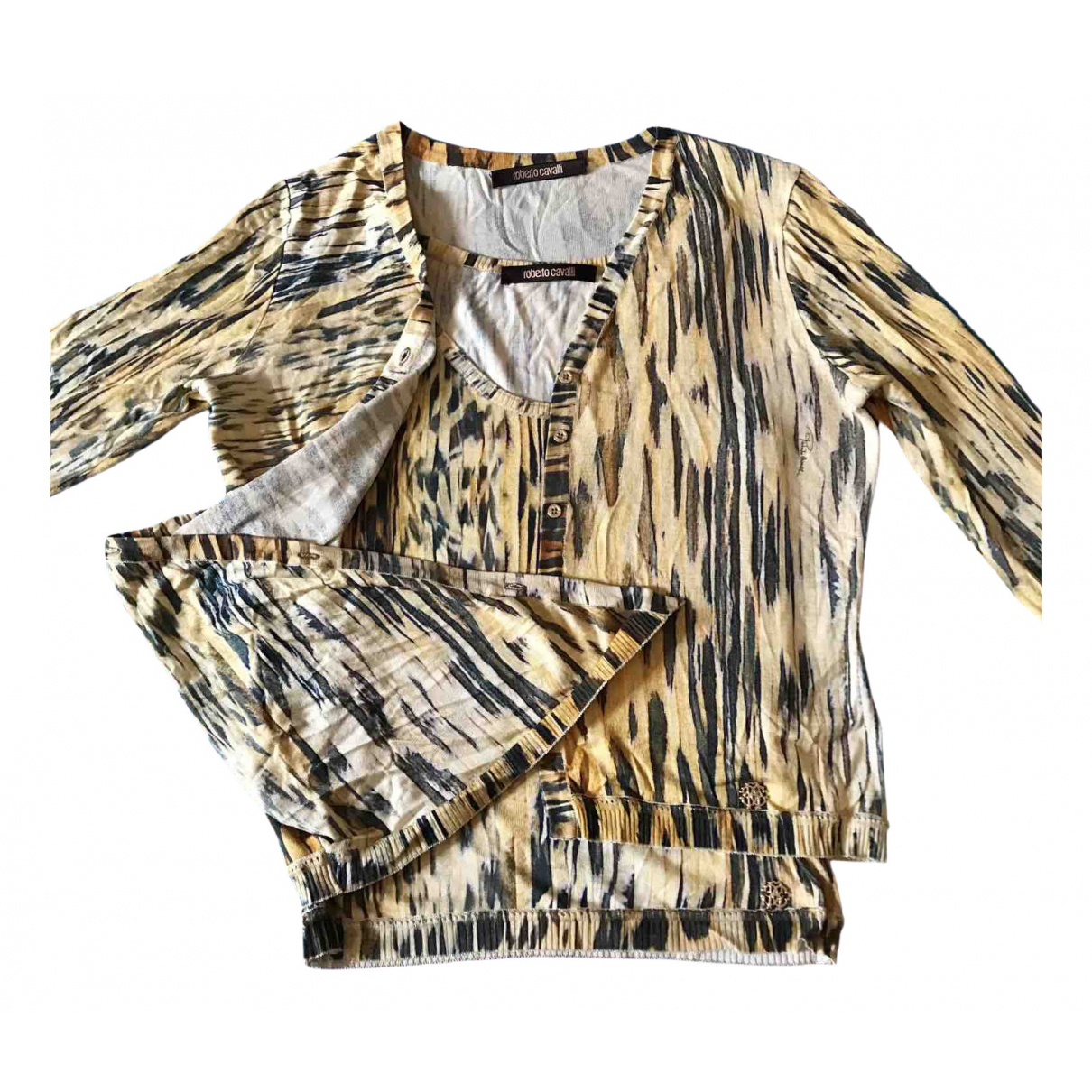 Roberto Cavalli \N Yellow Silk Knitwear for Women 42 IT