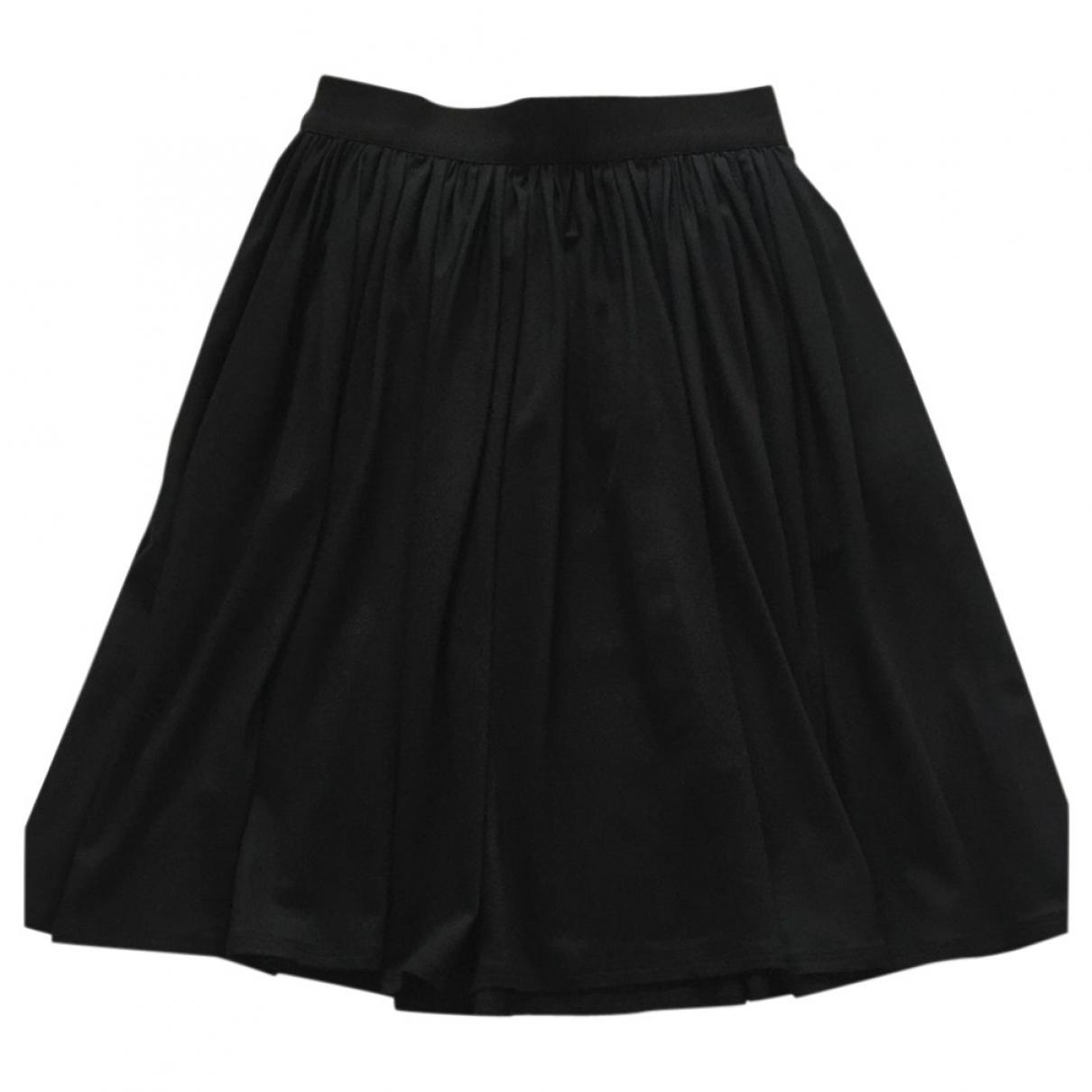 Paule Ka \N Black Silk skirt for Women 38 FR