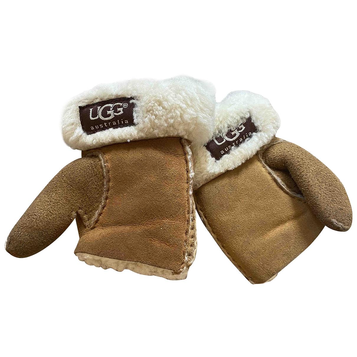 Ugg \N Hut, Muetzen, Handschuhe in  Braun Schaf