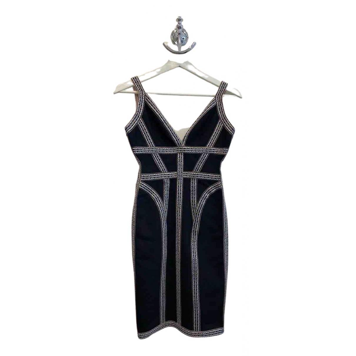 Herve Leger \N Kleid in  Schwarz Synthetik