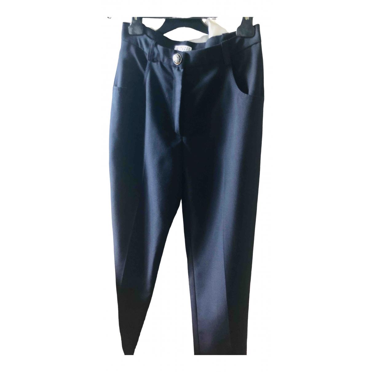 Claudie Pierlot \N Blue Cloth Trousers for Women 34 FR