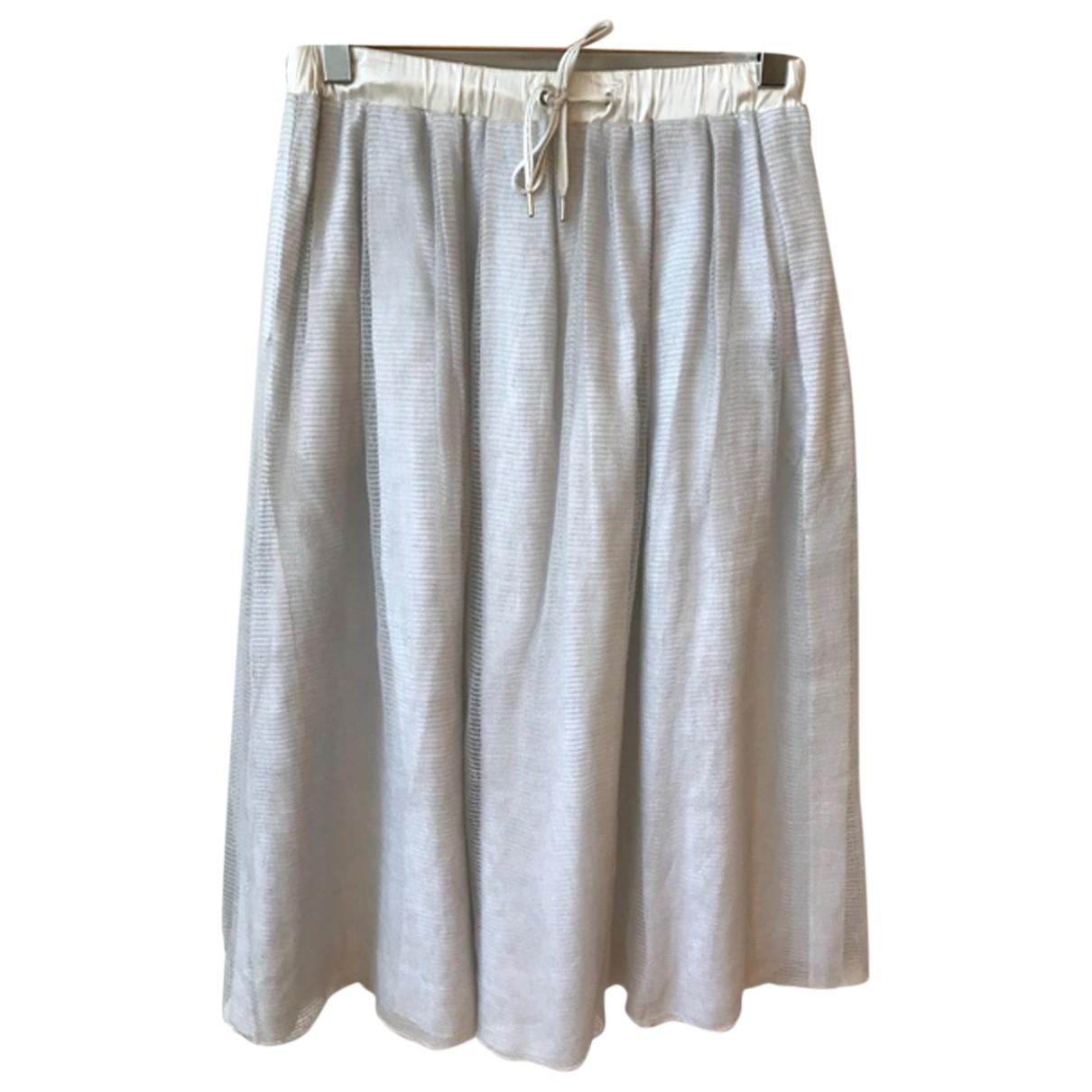Fabiana Filippi N Grey Linen skirt for Women 42 IT