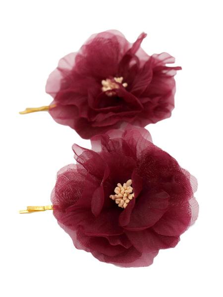 Milanoo Bridal Flower Headpieces Wedding Hair Accessories 2 Pieces