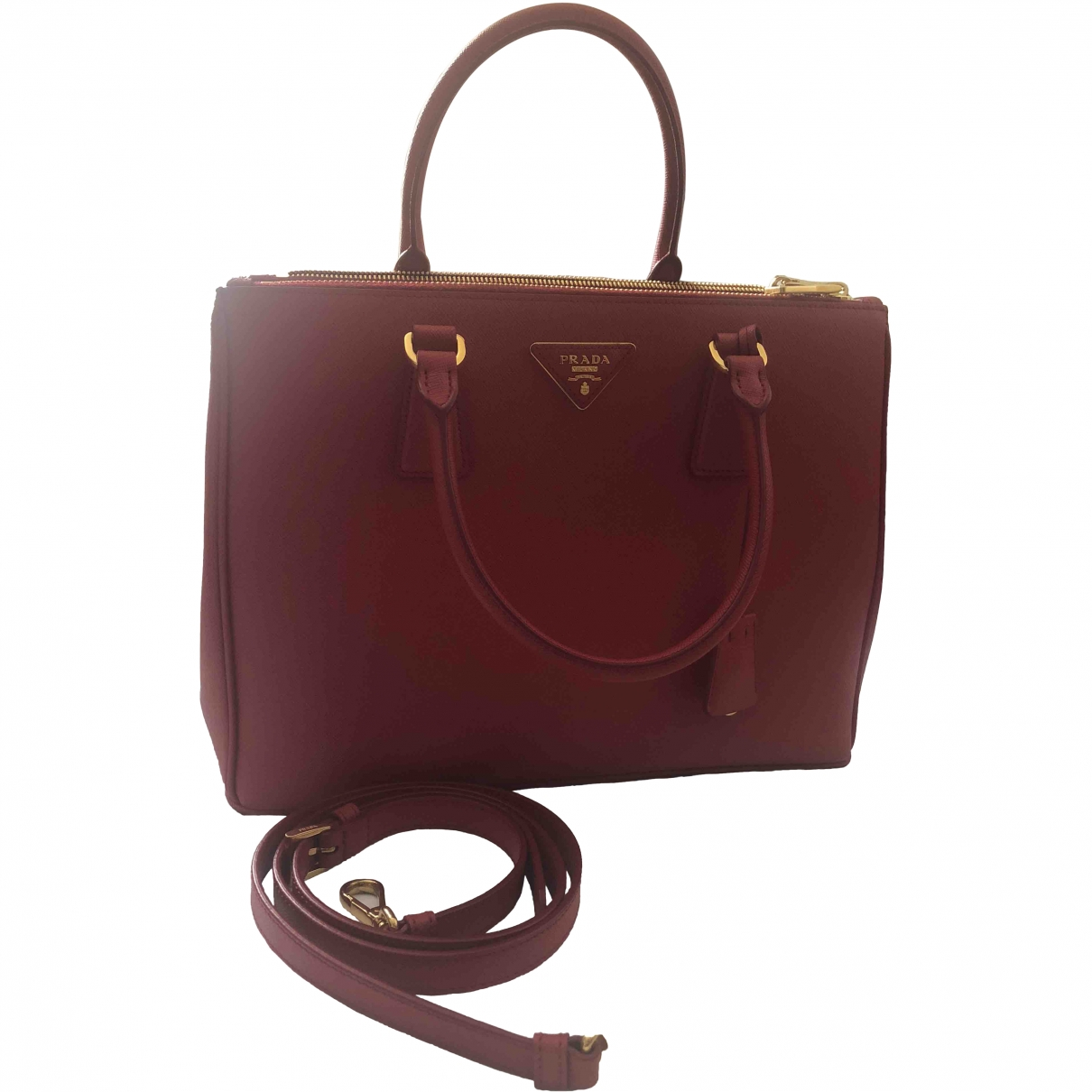 Prada saffiano  Red Leather handbag for Women \N