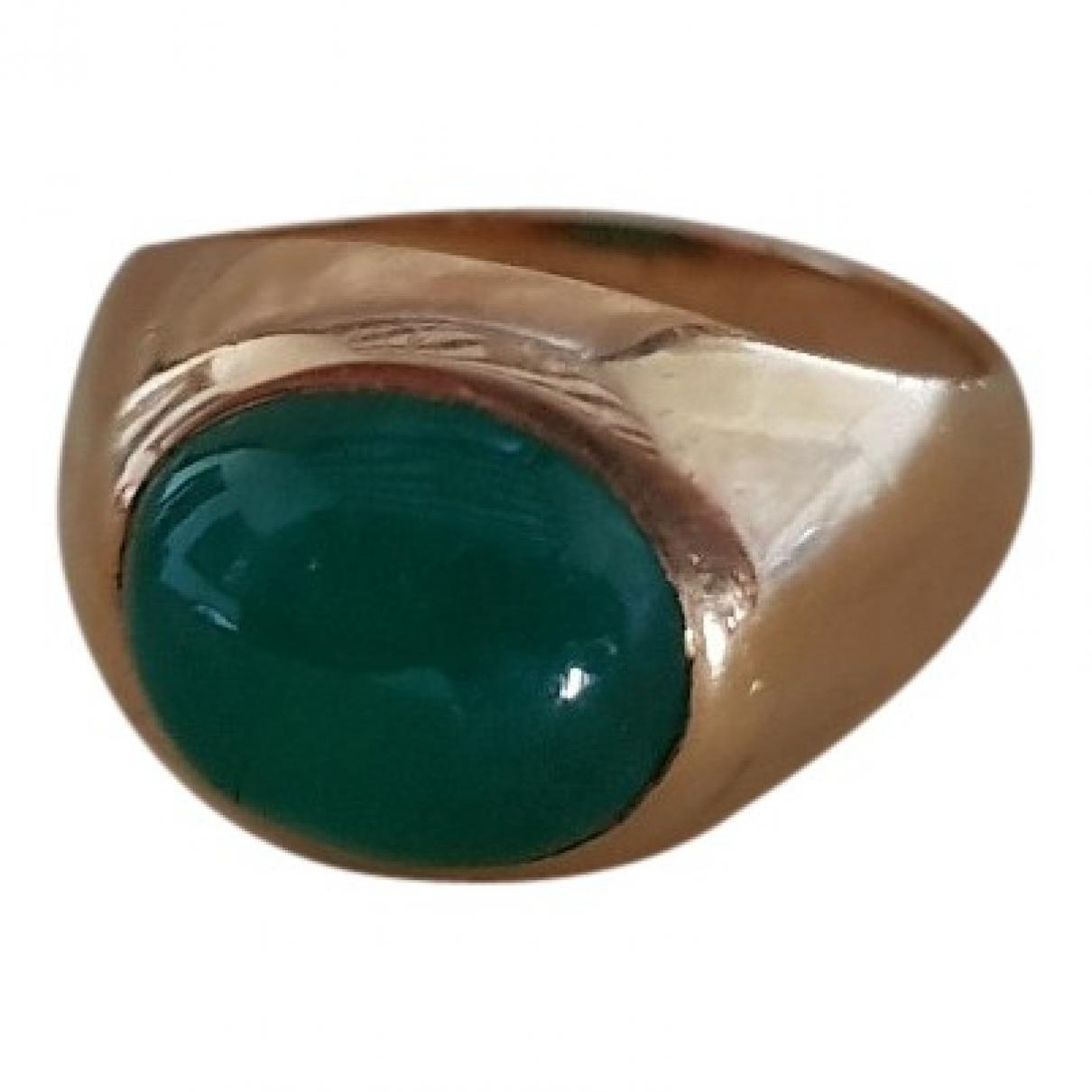 Non Signe / Unsigned Chevalieres Ring in  Gruen Gelbgold
