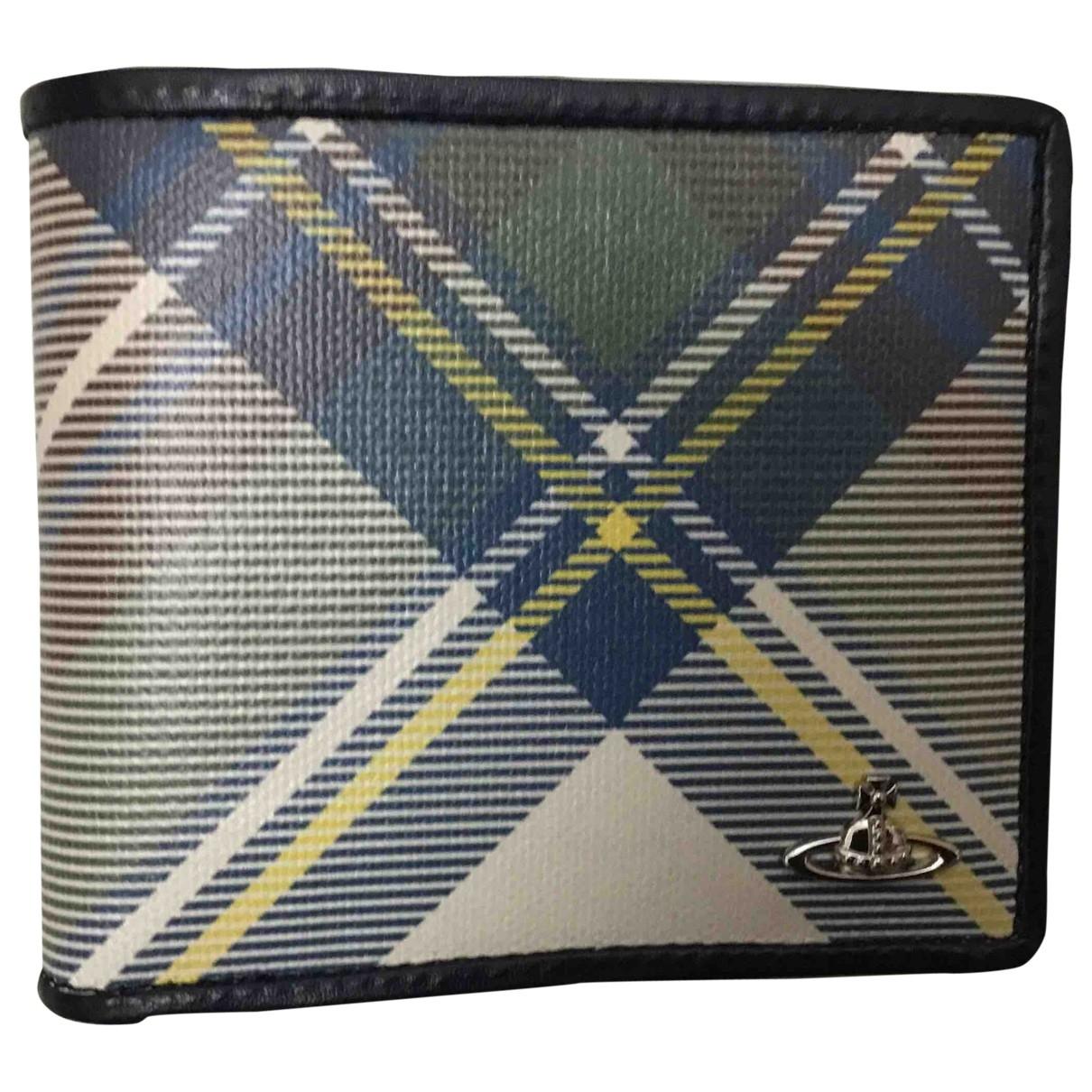 Vivienne Westwood \N Blue Leather Small bag, wallet & cases for Men \N