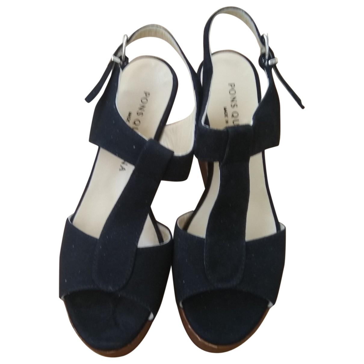 Non Signé / Unsigned \N Black Suede Sandals for Women 39 EU