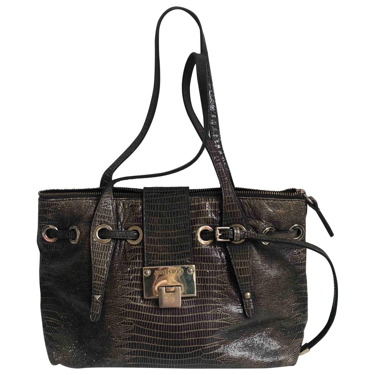 Jimmy Choo \N Grey Leather handbag for Women \N