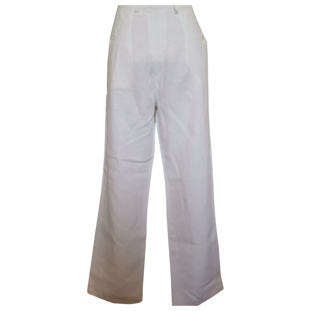 Kenzo \N White Linen Trousers for Men 48 FR