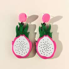 Pitaya Shaped Drop Earrings