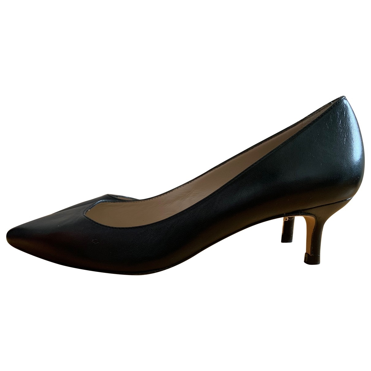 Lk Bennett \N Black Leather Heels for Women 37 EU