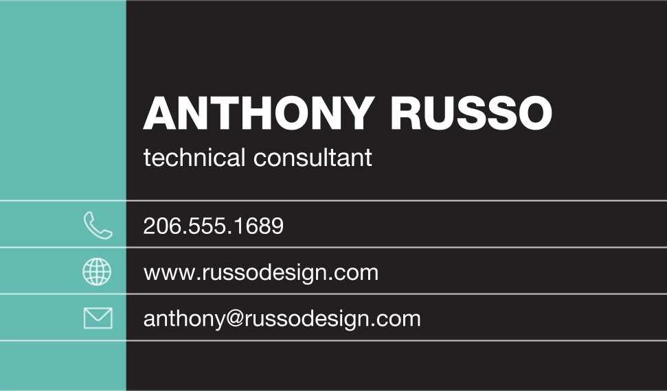 Modern Business Cards, Set of 40, Rounded Corner, Card & Stationery -Technical Consultant