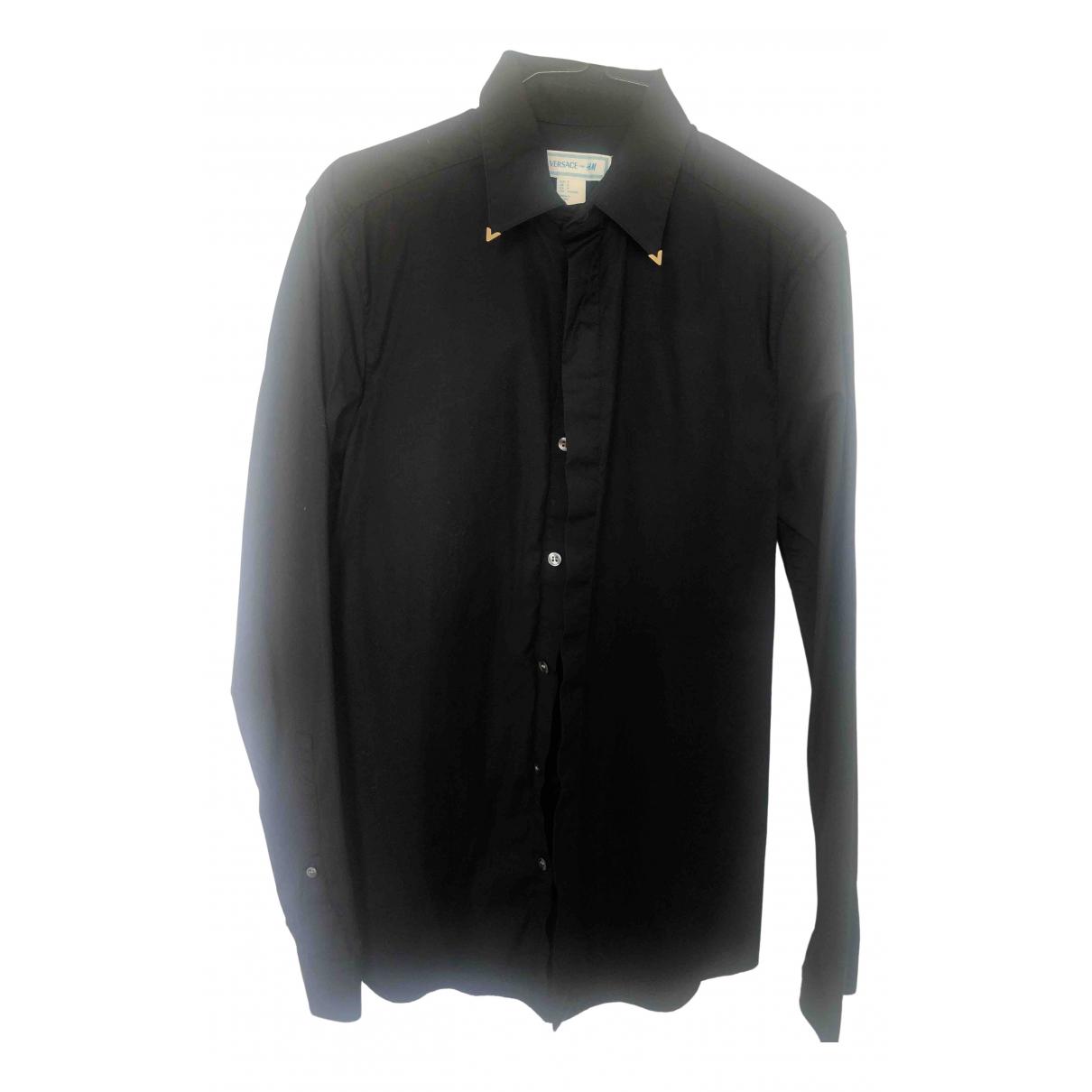 Versace X H&m - Chemises   pour homme en coton - noir