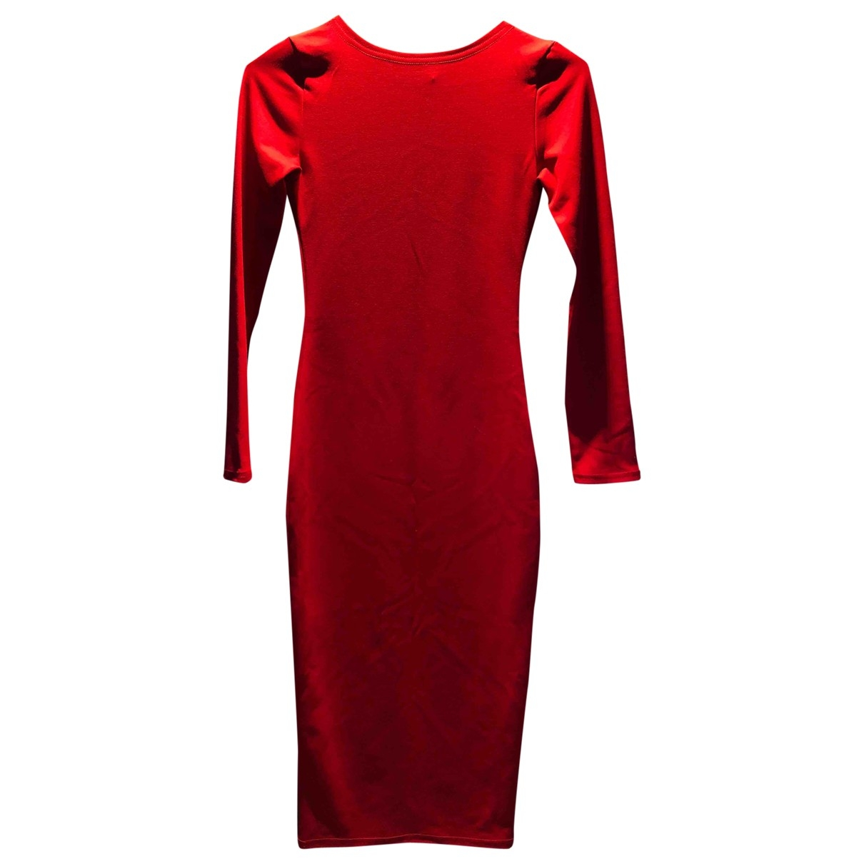 Non Signé / Unsigned \N Red Cotton - elasthane dress for Women S International