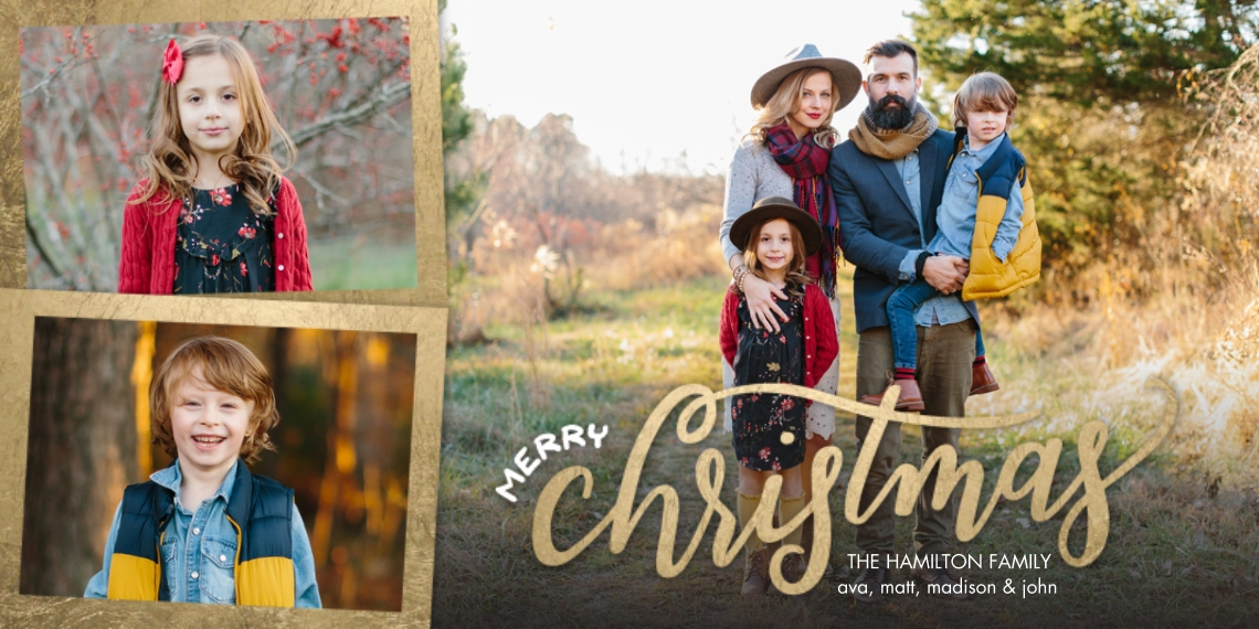 Christmas Photo Cards Flat Matte Photo Paper Cards with Envelopes, 4x8, Card & Stationery -Christmas Scripted by Tumbalina