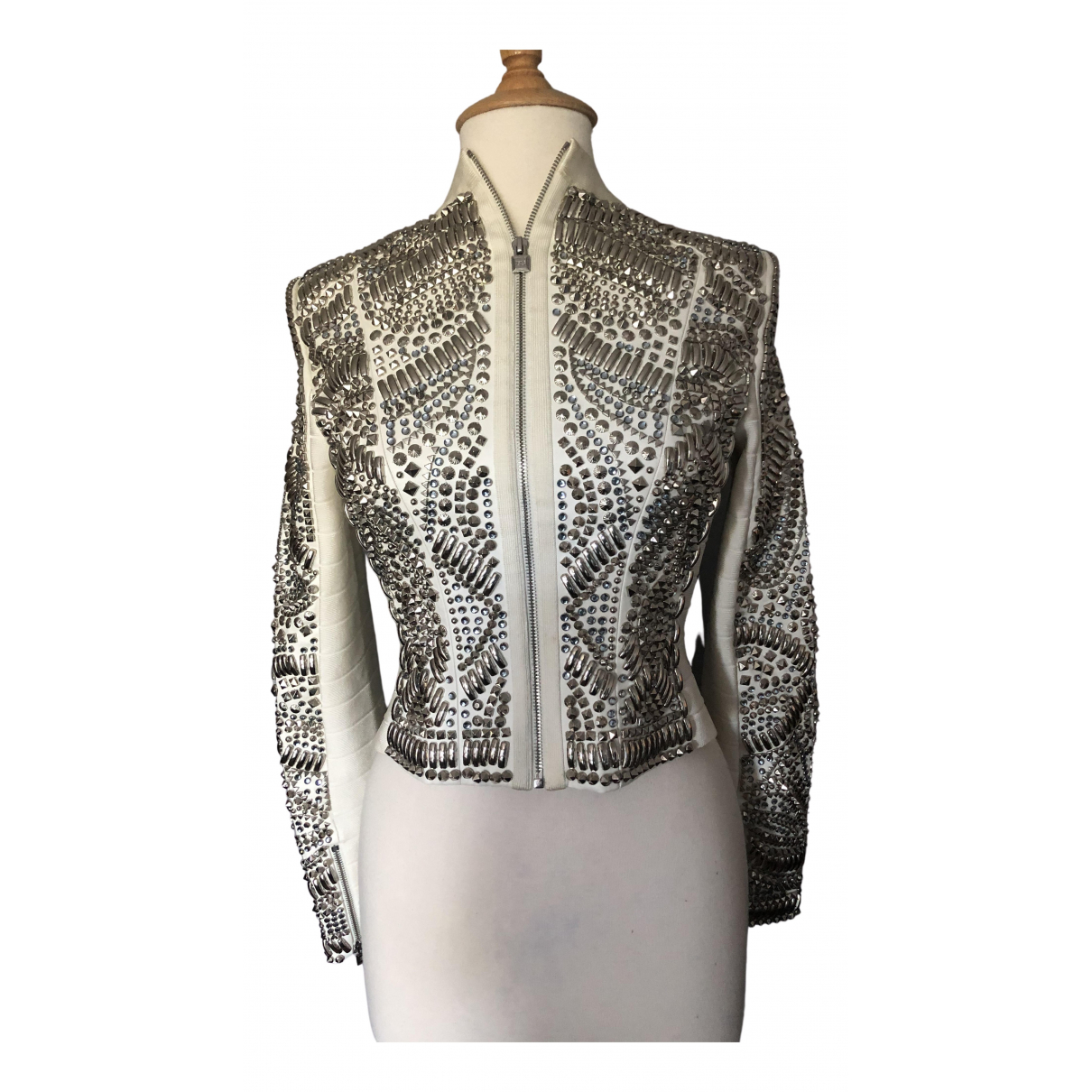 Herve Leger - Veste   pour femme en cuir - blanc