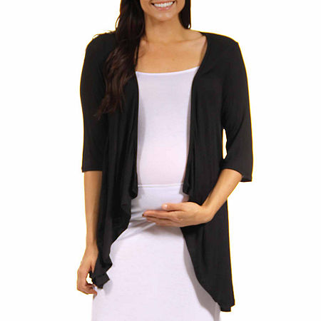 24/7 Comfort Apparel-Maternity Womens Knit Blouse, Small , Black