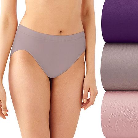 Bali Comfort Revolution 3 Pack Microfiber High Cut Panty Ak83, 8-9 , Multiple Colors