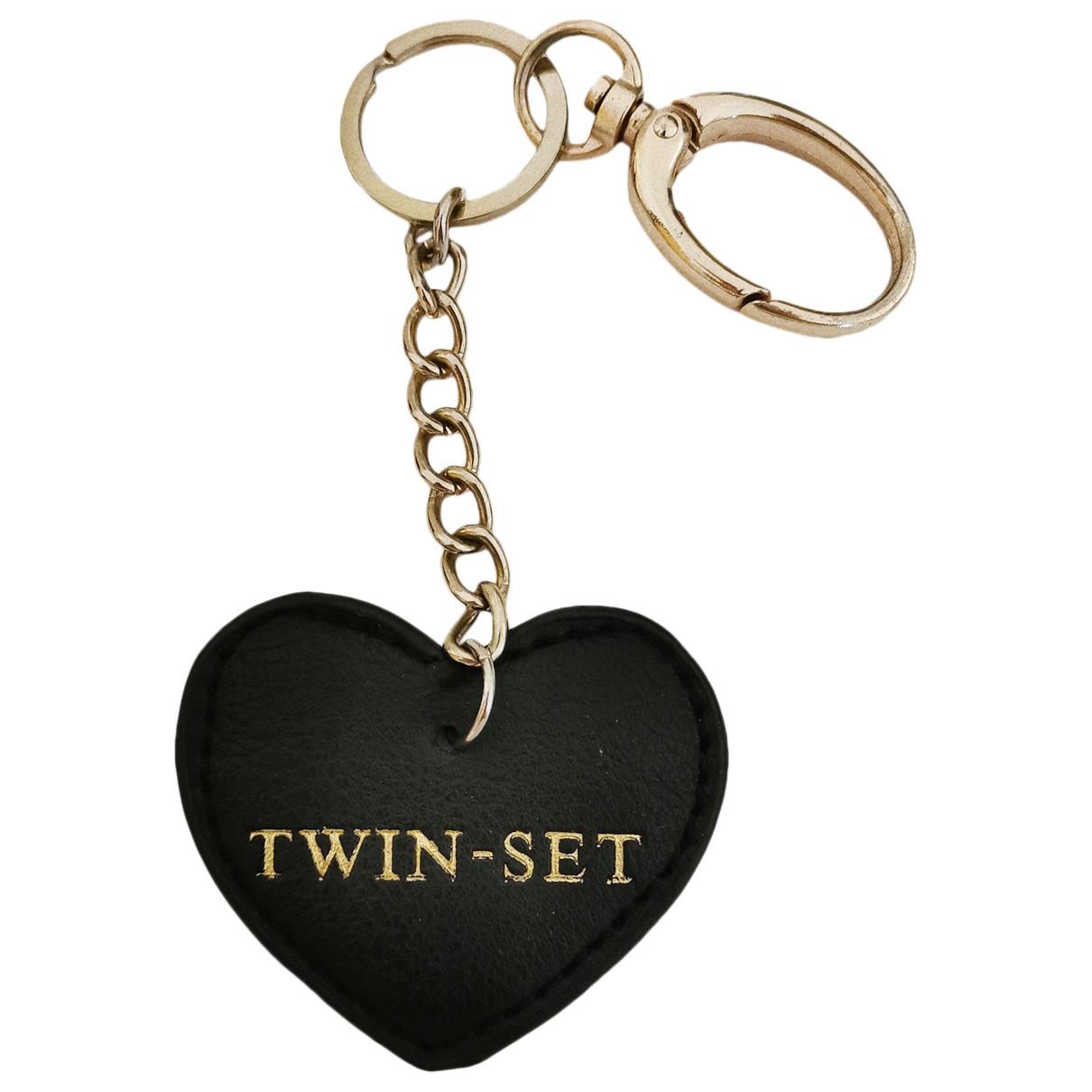 Twin Set - Petite maroquinerie   pour femme en cuir - noir