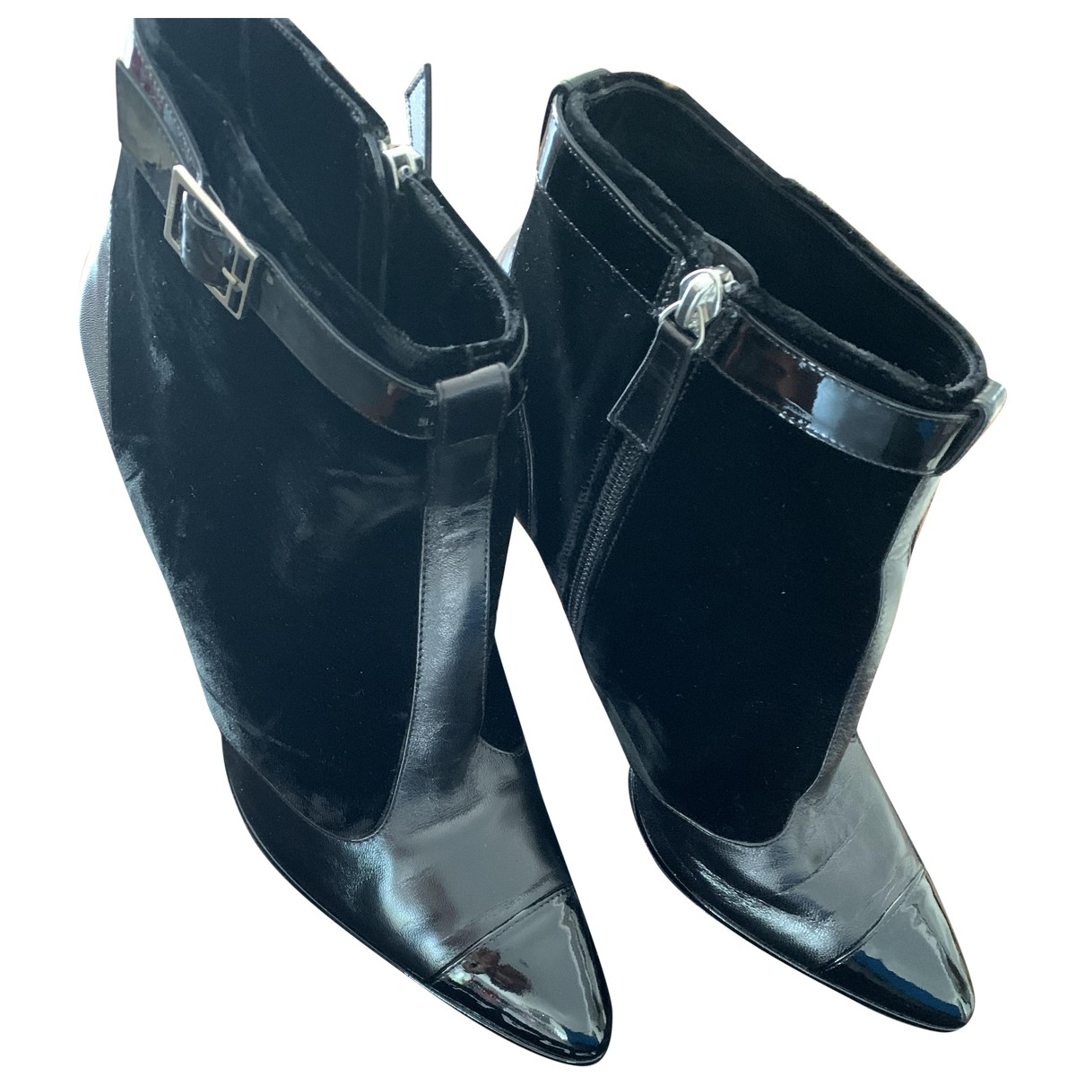 Chanel \N Black Leather Ankle boots for Women 37.5 EU