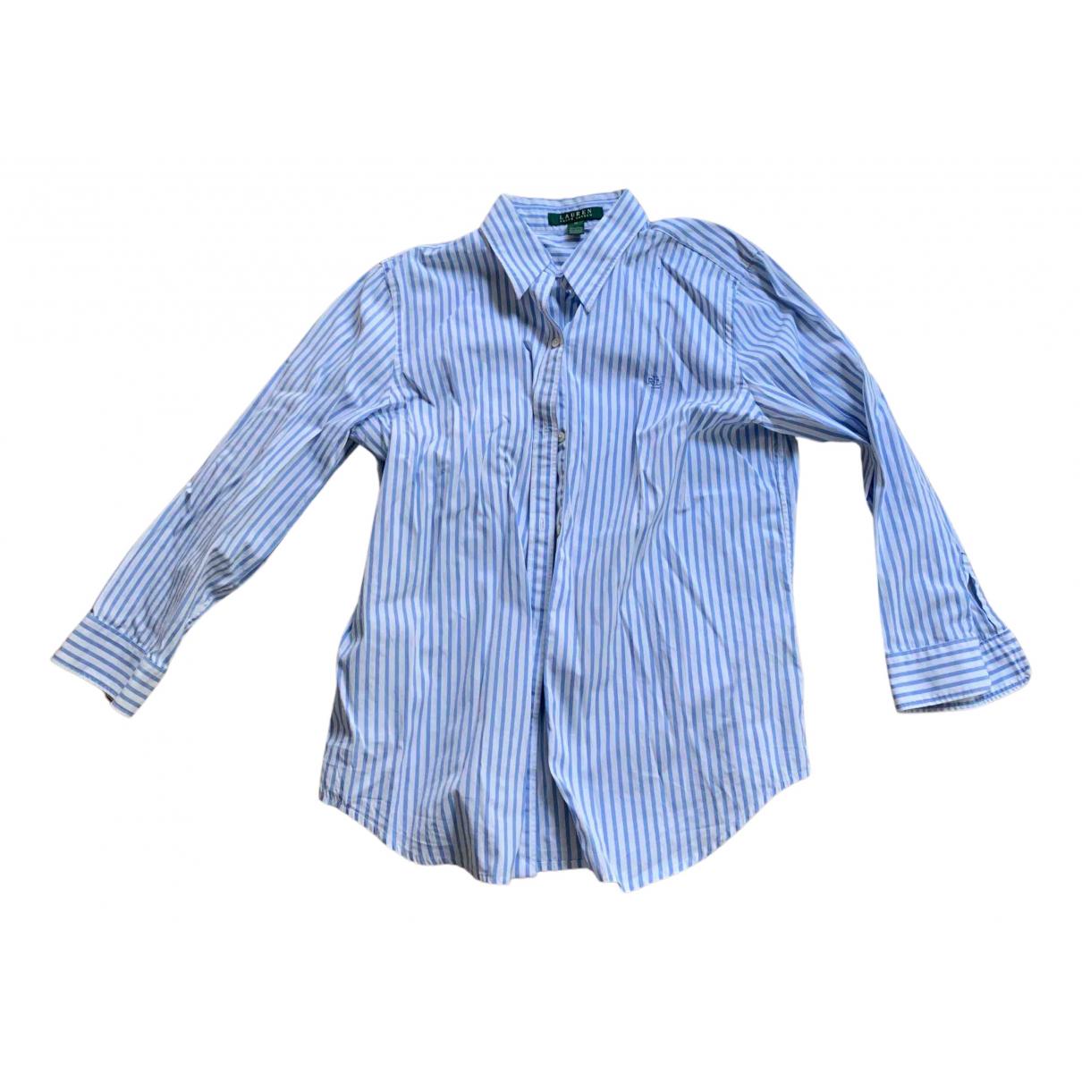 Lauren Ralph Lauren - Top   pour femme en coton - bleu