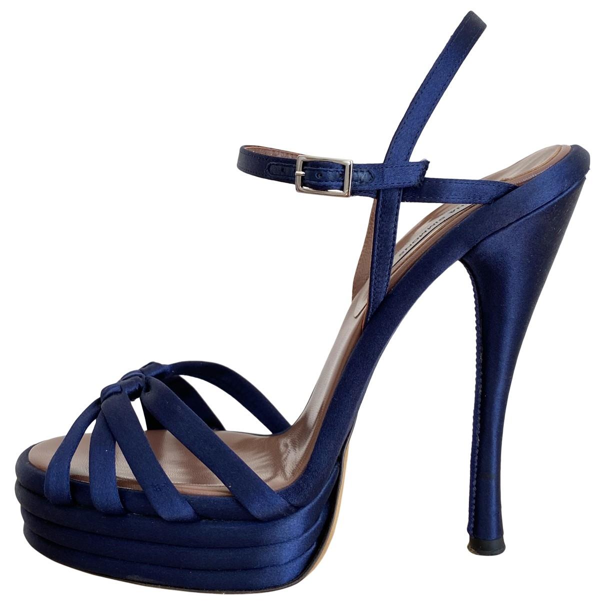 Tabitha Simmons \N Sandalen in  Blau Leinen