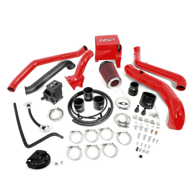 2011-2012 Chevrolet / GMC S300 Single Install Kit No Turbo Blood Red HSP Diesel 514-1-HSP-BR