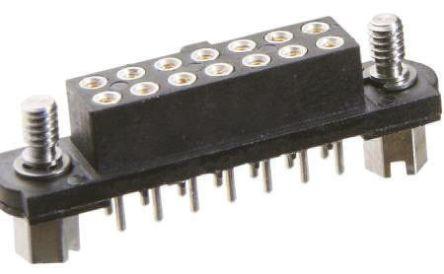HARWIN , M80 2mm Pitch 14 Way 2 Row Straight PCB Socket, Through Hole, Solder Termination