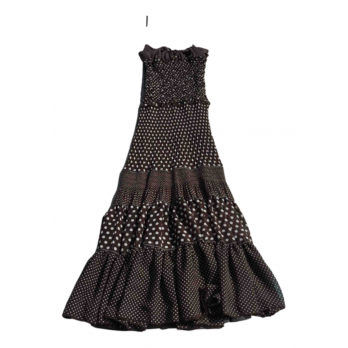 Non Signé / Unsigned \N Brown dress for Women 38 FR