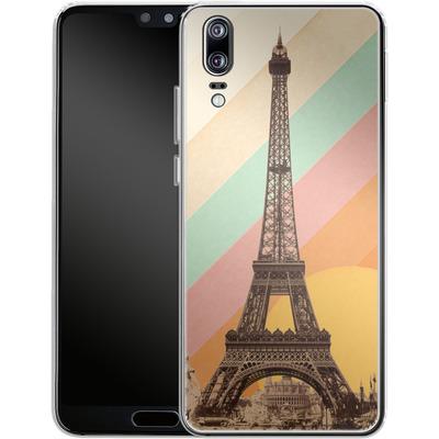 Huawei P20 Silikon Handyhuelle - Eiffel Tower Rainbow von Florent Bodart