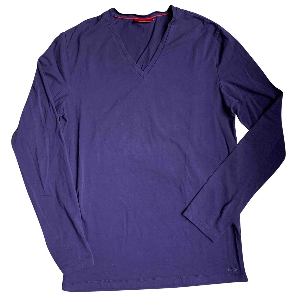 Hugo Boss \N Pullover.Westen.Sweatshirts  in  Lila Baumwolle