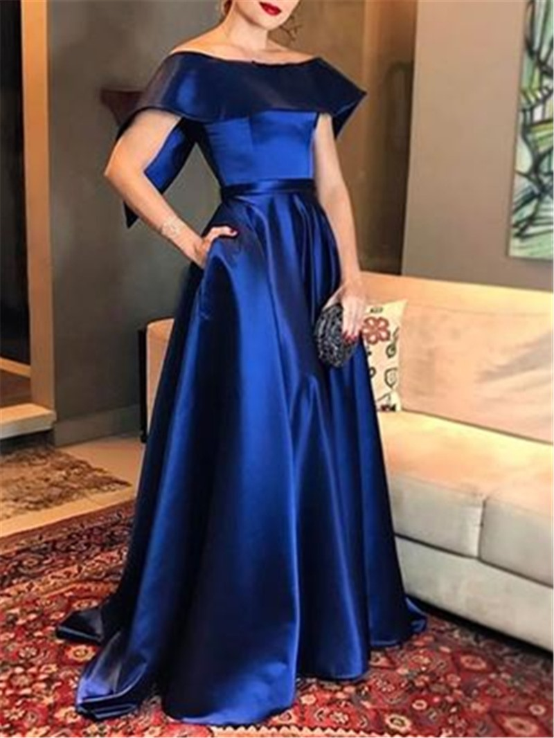 Ericdress Cap Sleeves A-Line Off-The-Shoulder Evening Dress