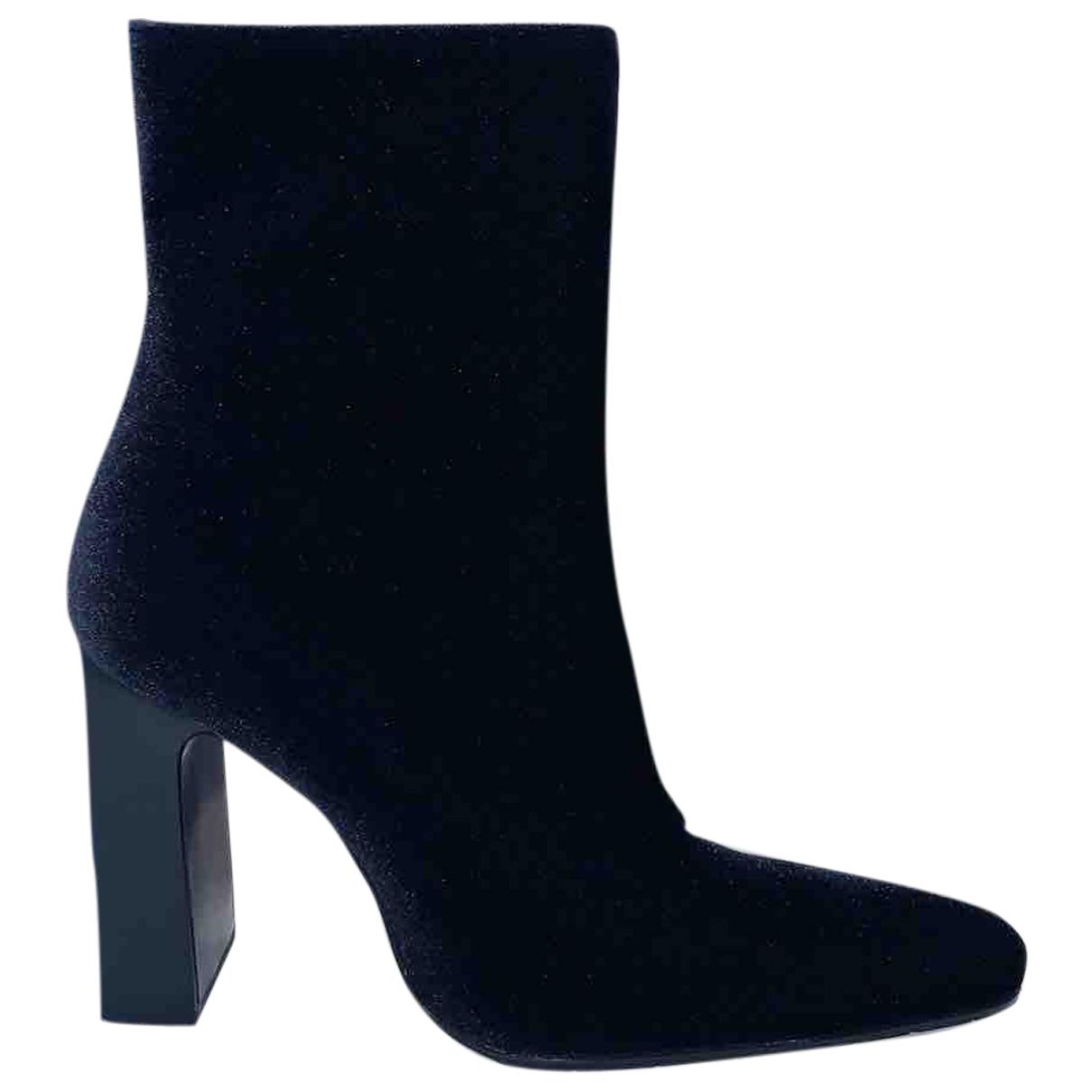 Balenciaga - Boots   pour femme en velours - noir