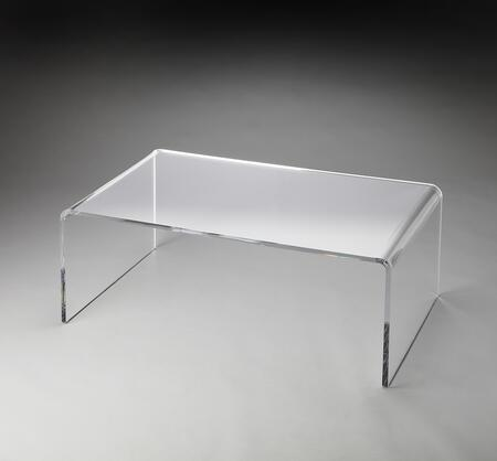 Crystal Collection 3398140 Coffee Table with Modern Style  Rectangular Shape and Acrylic Material in Butler Loft