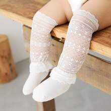 Baby Hollow Out Lace Trim Knee Socks